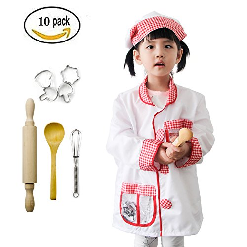 Mizzuco Chef Gear Costume Role Play Cooking Dress-up Toy Set