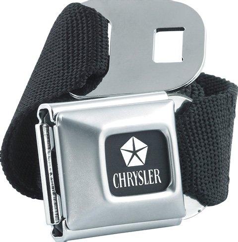 official-licensed-chrysler-car-logo-seatbelt-buckle-belt-with-canvas-black-webbing