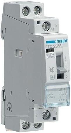 Hager Etc225s Contacteur Silencieux Jour Nuit 25 A 2na 230 V