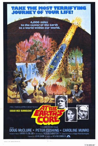 At the Earth's Core Poster Movie Doug McClure Peter Cushing Caroline Munro Cy Grant