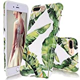 iPhone 7 Plus Case, DOUJIAZ Banana palm leaves Pattern Slim Shockproof Flexible Glossy TPU Soft Case Rubber Silicone Skin Cover for Apple iPhone 7 Plus 5.5 inch