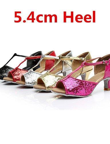 ShangYi SUN LISA Customizable Women's Dance Shoes Latin / Salsa Paillette Customized Heel Black / Red / Silver / Gold / Other Gold QKpZD3m