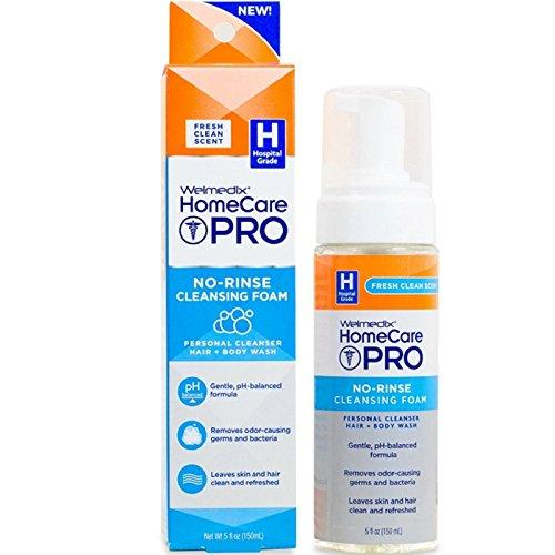 Welmedix HomeCare Pro No-Rinse Cleansing Foam 5 oz ( Pack of 12)