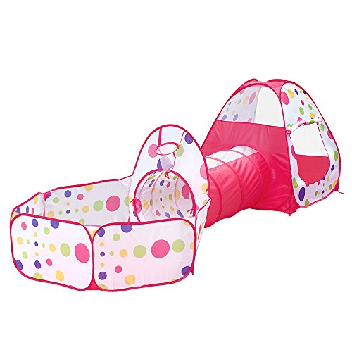 Loisleila 3pcs/set Foldable Kids Toddler Tunnel Pop Up Play Tent Toys For Children Indoor Outdoor Playhouse Kids Play Gaming Toys price