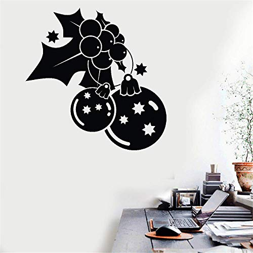 Decorative Wall Stickers Removable Vinyl Decal Art Mural Home Decor Holly and Baubles for Christmas ()