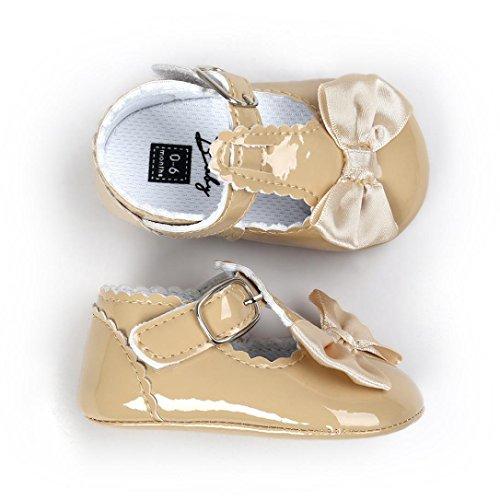 Boots Schuhe Jamicy® Baby Bowknot Prinzessin weiche PU Leder Sohle Schuhe Kleinkind Turnschuhe Freizeitschuhe Khaki