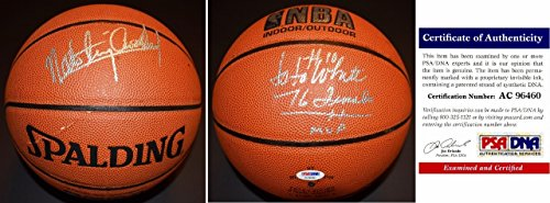 Nate Archibald and Jo Jo White Signed - Autographed Basketball - Spalding Indoor/Outdoor Model Ball - Boston Celtics - Tiny Archibald - PSA/DNA Certificate of Authenticity (COA)