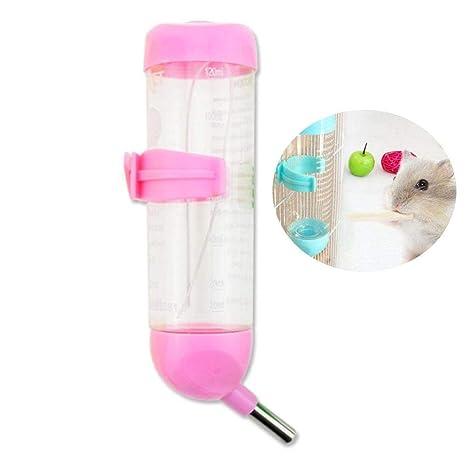 SODIAL Dispensador De Agua para Perro Mascotas, Alimentador De Beber De Acero Inoxidable Sin Goteo