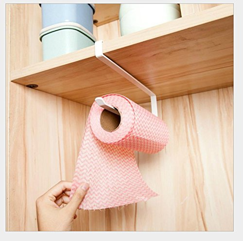 Lavenz Wall Mounted kitchen paper holder Towel Rack bathroom shelf Toilet Sink Door Hanging Organizer Storage Hook Holder Rack by Lavenz
