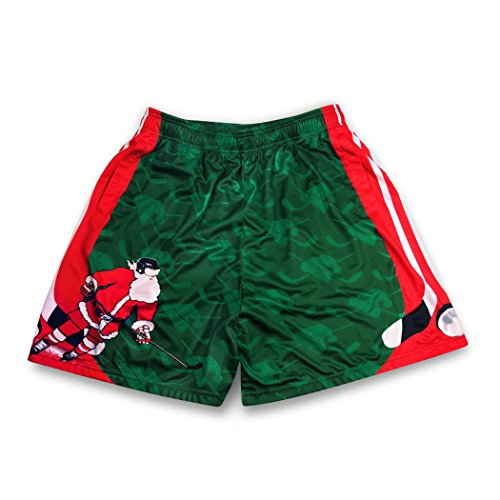 Premium Hockey Athletic Shorts | Slap Shot Santa | Adult Small