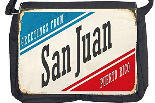 Borsa Tracolla Voglia Viaggiare Città San Juan Puerto Rico Stampato