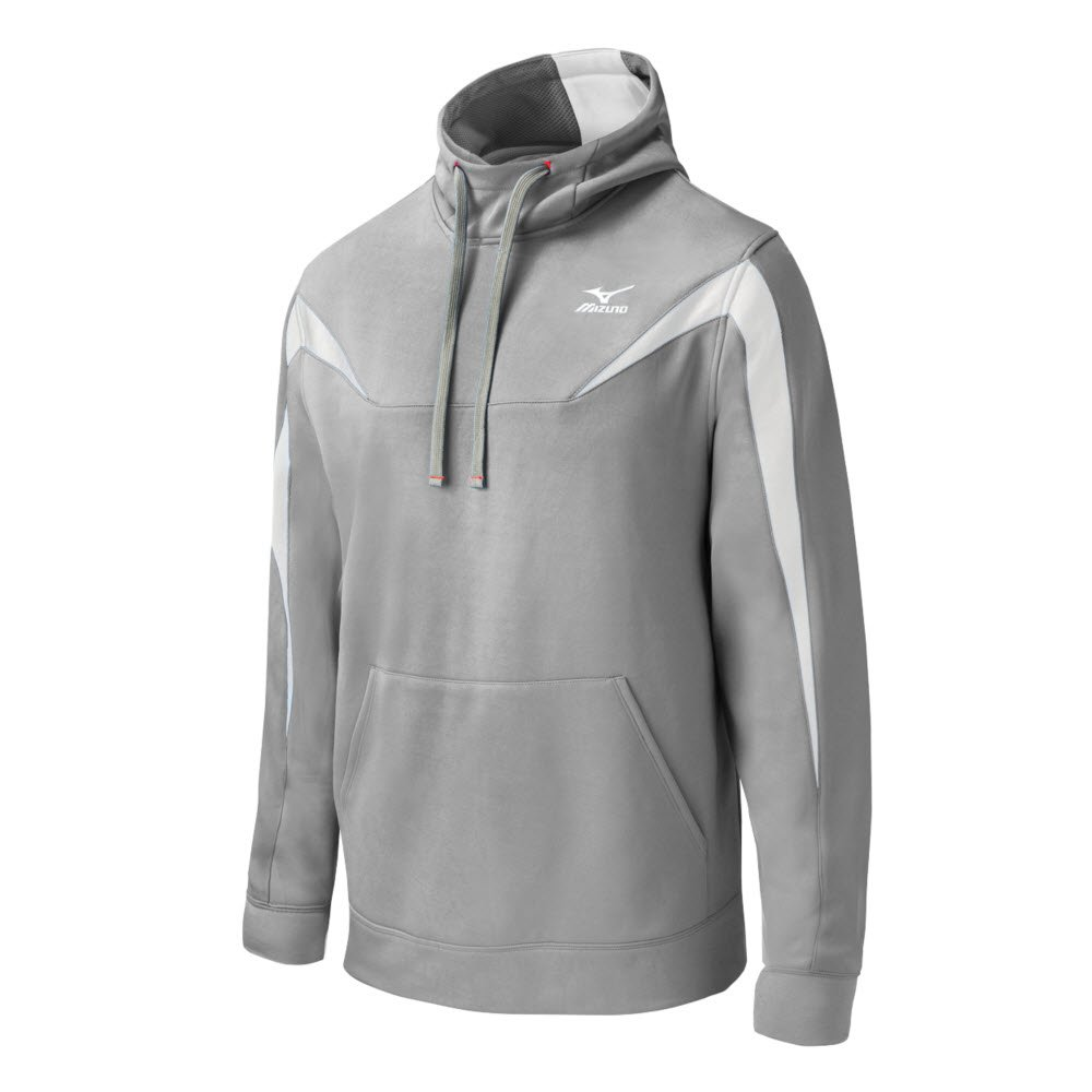 Mizuno Elite Thermal Hoodie B014QOQHS4 Large|グレー/ホワイト グレー/ホワイト Large