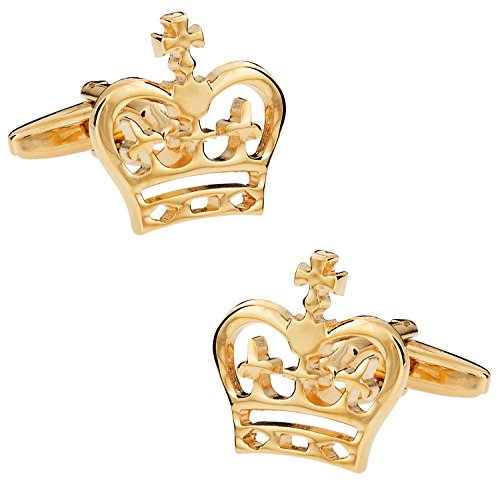 Cuff Daddy Gold Cufflinks (Cuff-Daddy Gold Crown Cufflinks with Presentation Box)