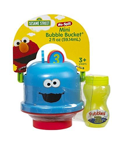 Little Kids Sesame Street Mini No-Spill Bubble Bucket Cookie Monster Toy