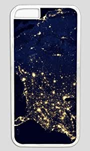 America Space Nice Map Thanksgiving Halloween Masterpiece Limited Design PC Transparent Case for iphone 6 pluse by Cases & Mousepads