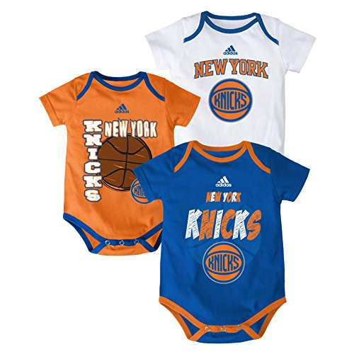"NBA New York Knicks Newborn ""3 Point Spread"" Bodysuit Set, Blue, 6-9 Months"