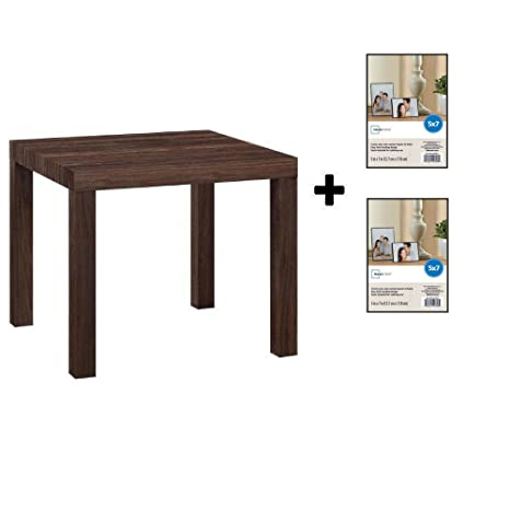 Superb Mainstays Parsons Side End Table Multiple Colors Canyon Walnut With Frame Machost Co Dining Chair Design Ideas Machostcouk