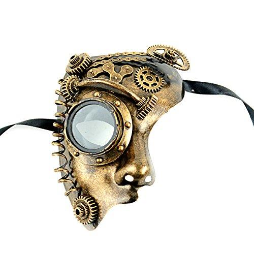 Art Of Mask The Shaving - MaskIt Gold Steam Punk Half Faced