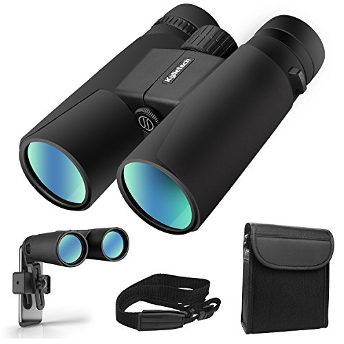 Kylietech 12X42 Binoculars for Adults With Tripod Mount,Professional HD Compact Waterproof and Fogproof Binoculars Sports-BAK4 Prism FMC Lens for Bird Watching Hiking Travel Stargazing Hunting - Brands Eyeglasses Of List