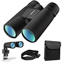 Kylietech 12X42 Binoculars for Adults With Tripod Mount,Professional HD Compact Waterproof and Fogproof Binoculars Sports-BAK4 Prism FMC Lens for Bird Watching Hiking Travel Stargazing Hunting Concert