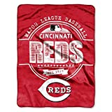 "MLB Cincinnati Reds Structure Micro Raschel Throw, 46"" x 60"""