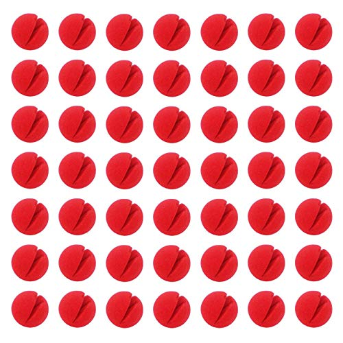 clown nose,Pclown nose arty Supplies 49 Pcs Novelty Squishy Foam Clown Noses - Great for Red Nose Day, Costumes, Parties, Halloween -