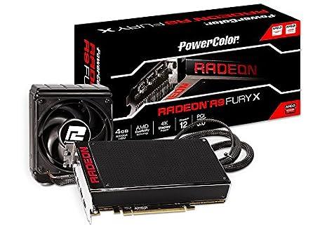 PowerColor AX R9 Fury X 4GBHBM-DH - Tarjeta gráfica (PCI-E R9 4096 MB HBM)