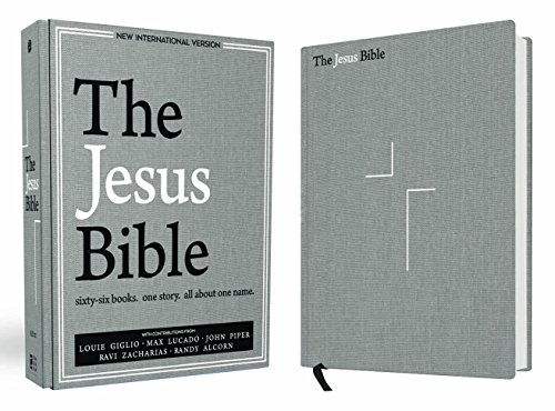 The Jesus Bible, NIV Edition, Cloth over Board, Gray Linen (Column Single Four)