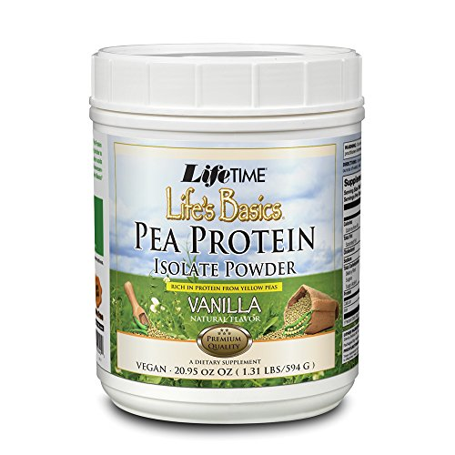 - Lifetime Life's Basics Pea Protein Powder, Natural Vanilla Flavor 1.2lb
