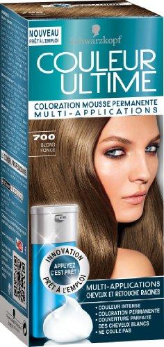 schwarzkopf couleur ultime coloration mousse permanente 700 blond fonc amazonfr hygine et soins du corps - Coloration Blond Fonce