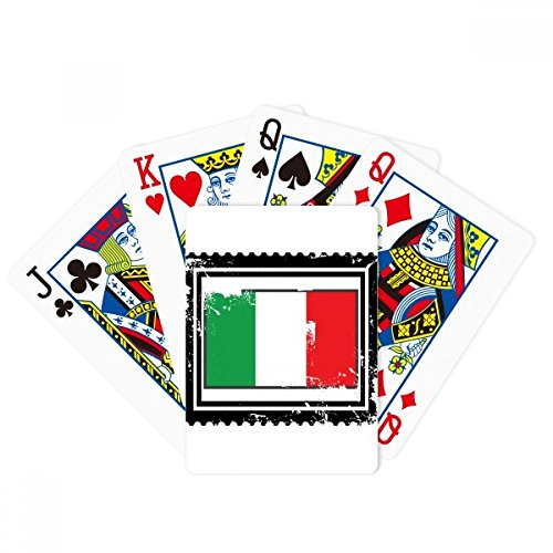 Italy National Flag Country Mark Rectangle Poker Playing Cards Tabletop Game Gift by beatChong