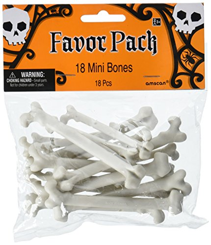 Mini Plastic Bone Halloween Decor