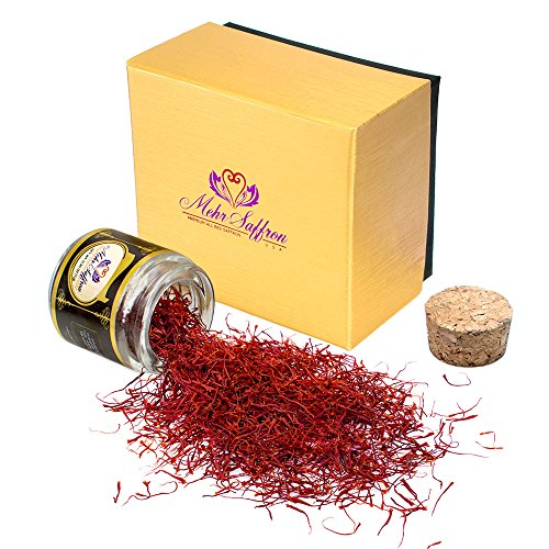 Mehr Saffron, Premium All Red Saffron / 1-gram Corked Jar