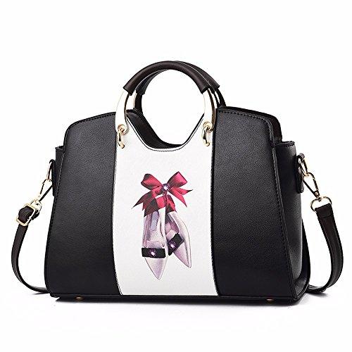 Crossbody CCZUIML Mujer Bag Bolso Negro negro Mano para de wFfqg