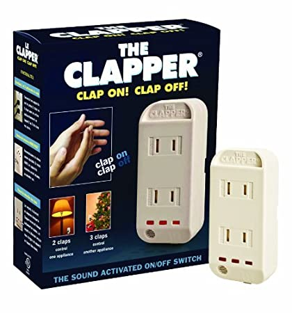 The Clapper, Wireless Sound Activated On/Off Light Switch, Clap Detection,  Perfect