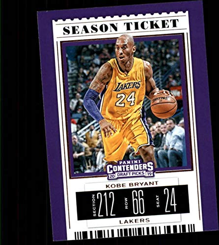 2019-20 Contenders Draft Picks Season Ticket VARIATION #32 Kobe Bryant Los Angeles Lakers Official Panini NCAA Collegiate Basketball Card (any streak on scan is NOT on the card)