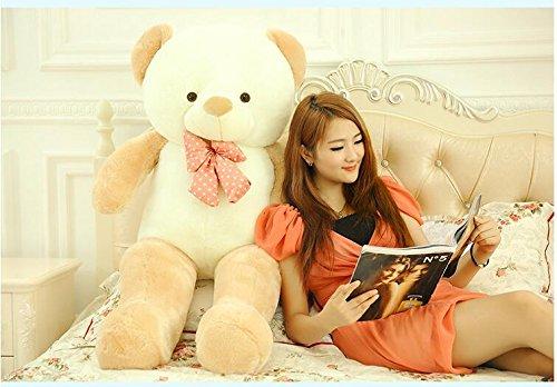 VERCART 55 inch Light Brown Giant Huge Cuddly Stuffed Animals Plush Teddy Bear Toy Doll by VERCART