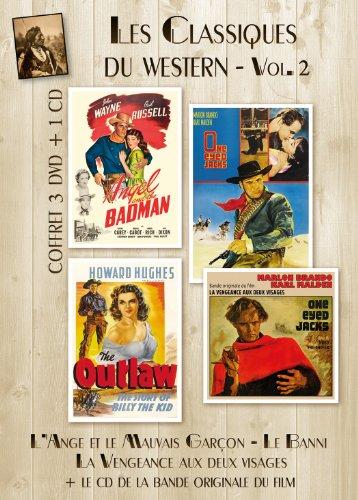 - Coffret 3 DVD + 1 CD Les Classiques Du Western - VOL 2 : Le Banni (The Outlaw), L'Ange et le mauvais garçon (Angel and the Badman), La Vengeance aux deux visages (One-Eyed Jacks) + BO du film.