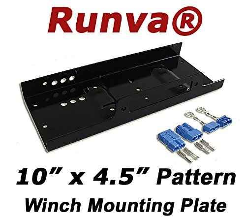 Runva Winch Mounting Plate (Max 12000lbs) Universal Pattern 10' x 4.5' /w Quick Connects