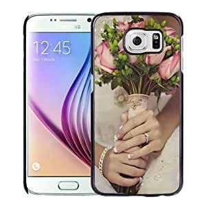 New Personalized Custom Designed For Samsung Galaxy S6 Phone Case For Bride Holding Roses Phone Case Cover