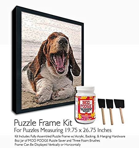 Mod Podge Jigsaw Puzzle Frame Kit - For Puzzles Measuring 19.75x26.75 Inches (Mod Podge Accessories)
