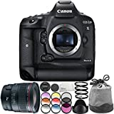 Canon EOS-1D X Mark II DSLR Camera with EF 24mm f/1.4L II USM Lens 6PC Accessory Bundle – Includes 3PC Filter Kit (UV + CPL + FLD) + MORE - International Version (No Warranty)