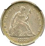1875 S 20-Cent Pieces Twenty Cent Piece AU53 NGC