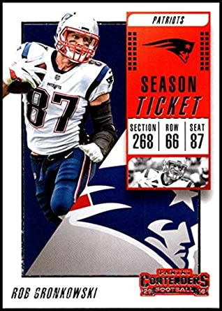 2018 Panini Contenders Season Tickets  37 Rob Gronkowski NM-MT New England  Patriots Official 2ecb21015