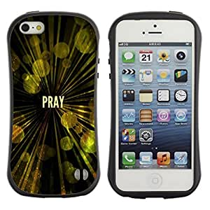 Suave TPU GEL Carcasa Funda Silicona Blando Estuche Caso de protección (para) Apple Iphone 5 / 5S / CECELL Phone case / / BIBLE Pray /