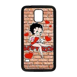 Betty Boop 002 funda Samsung Galaxy S5 caso del teléfono celular funda G7M6UFAYPC negro