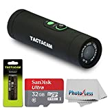TACTACAM 3.0 With Custom Gun Mount + TACTACAM Rechargeable Battery + SanDisk Ultra 32GB microSDHC UHS-I Card with Adapter + Photo4Less Cleaning Cloth + Valued Accessory Bundle Action Cameras Photo4Less
