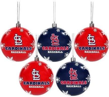 Team Color FOCO MLB St OS Louis Cardinals Unisex 5 Pack SHATTERPROOF Ball Ornament SET5 Pack SHATTERPROOF Ball Ornament Set