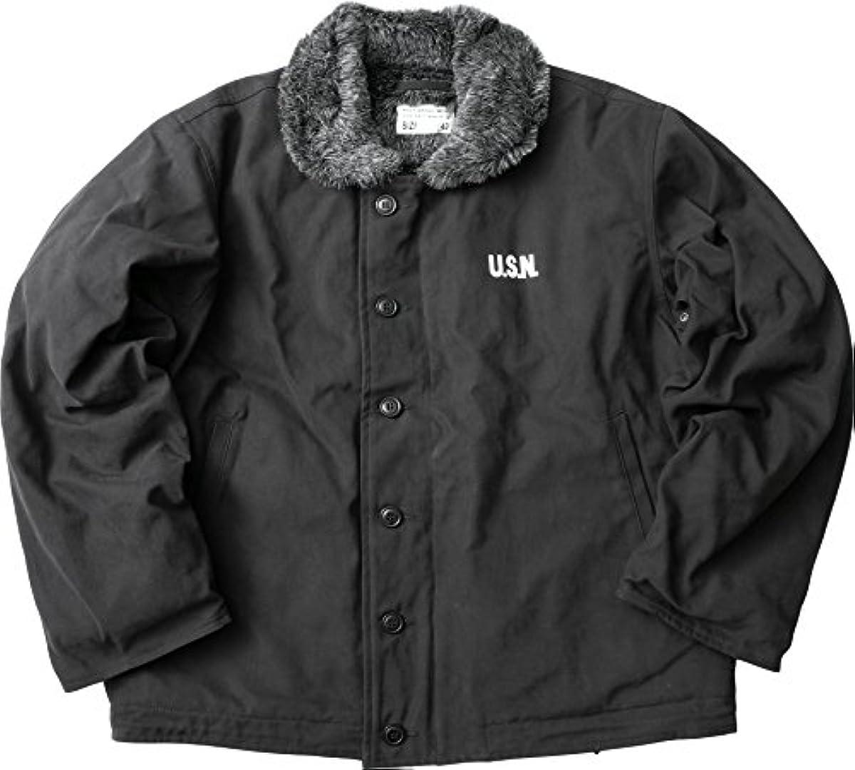 [해외] YMCLKY오리지널 미군 퍼터입 N-1 데크 재킷 블랙 퍼(fur) 신품