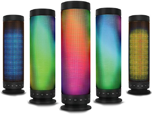 Kocaso Standing Portable Bluetooth LED Rainbow Dancing Speaker (Hands-Free Calling, Built in Mic, Powerful Sound, Bluetooth Connectivity, Laptops, Smartphones, Universal Bluetooth Capability) - Black